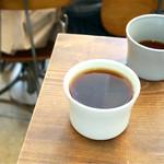 グリッチコーヒー&ロースターズ - 飲み比べが出来て良かったです。 エチオピア ゲデブ、パナマ ゲイシャ