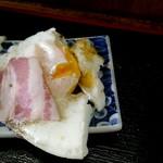 お食事処 秋月 - ベーコンエッグ