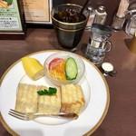 あべのカツサンドパーラー ロマン亭 - モーニングAセット(冷コー)