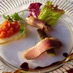ラ・テラス - 前菜盛り合わせ3品一例