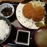 博多もつ鍋 やまや - メンチカツ定食 1,000円