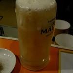 ガングロ - 冷やし過ぎなくらいの生ビールは最高‼
