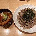 つけ蕎麦 安土 - 2011/1 鶏つけ蕎麦780円
