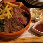 古城の国のアリス - オージービーフ大麦牛のステーキ