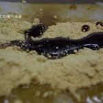 梅園 - 塊にそのままきな粉と黒蜜