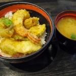 天ぷら かき揚げ 新次郎 - 天丼