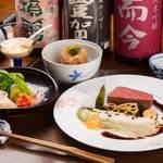 お料理 ひ魯ひ魯 - 素材にこだわり、手間暇かけた料理が並ぶ5,150円コースの一例。