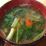 中華の永楽 - 味噌汁、甘目で旨い