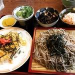 もとなり - 料理写真:ざるそば定食ちらし寿司に変更