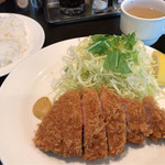 カズサヤ - ランチロースカツ(100g) 1200円。