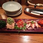 韓国鶏鍋 GOCHU - おまかせ前菜盛り合わせ
