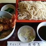 そばところ貝塚屋 - 料理写真:もり蕎麦 と ミニ天丼セット。