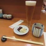 銀座 天ぷら 阿部 - 生ビール・香の物