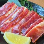ひびの亭 - 牛カッパ焼き580円(税込626円)…ねぎ+レモン汁でどうぞ!