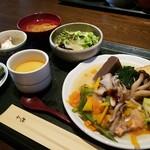 65668423 - 銀鮭と彩り野菜の焼きびたしランチ