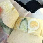 パン職人 ふたばや - サンドイッチの中身はこんな感じ(おいしそうに撮れてなくてすみません…)