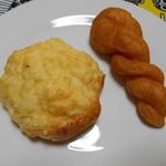 シロヤベーカリー - チーズパン&きなこ☆彡