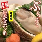 凡愚 - 料理写真:舞鶴漁協殺菌済み。安心して召し上がりください。ピッと紅葉おろしでどうぞ!