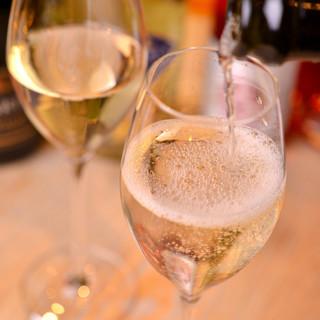 豊富なスパークリングワイン