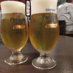 Osteria CASA MIA - ビールでお疲れさん