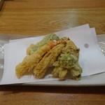 蕎麦うらやす信や - おまかせコース 天ぷら盛り合わせ
