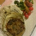 清凜 - ハーブ豚とサザエの蕗味噌焼き