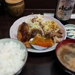 食庵とんとん - 日替わり定食 650円(ランチは600円)