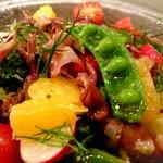 ラザーニャ・ラザーニャ - 富山県産ホタルイカと甘夏のゴロゴロ野菜サラダ