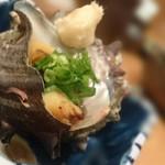 鮨処 竜敏 - サザエつぼ焼き