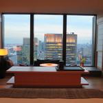 アマン東京 - ベッドからの景観