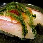 琉球回転寿司 海來 - 料理写真:県産マチ 一貫340円