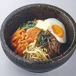石焼明太バタービビンバ(スープ付)
