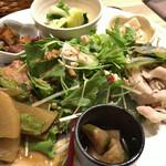 花様 - ★★★☆ おばんざい御膳 6種のおばんざい、サラダと、お味噌汁、ご飯、香の物