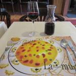 ラ・ムジカ - テーブルの光景・ワイン