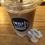 ウィルコーヒー - アイスカフェラテ(M)。王道を行く味。