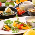 鉄板焼ビストロ よしむら - ランチ:焼き野菜と手づくりハンバーグのセット