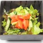 とんかつ二条 - 野菜サラダ