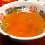 香港 - カニ玉炒飯(スープ)