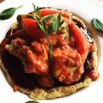 鉄板焼ビストロ よしむら - トマトとアボカドのお好み焼き
