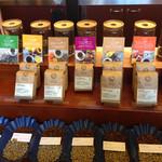 NOZY COFFEE - お豆は8種類で、香りなどを写真で表しています