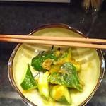 居酒屋 神威 - キュウリのわさび味噌和え
