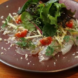 【築地の魚介】【厳選した肉】【季節の野菜】のイタリア料理