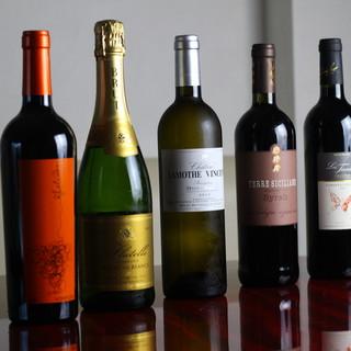専門店から仕入れる厳選ワインを堪能