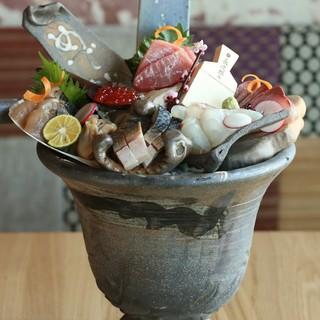 産直鮮魚や野菜をご用意!