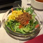 ペダラーダ - サラダのアップ。身体に良いですね。