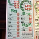 八角亭 - 2017.3.24  お肉メニュー