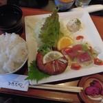 65718807 - 豆腐ハンバーグとカルパッチョ(ランチプレート)