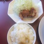 中華そば寅 - 鶏唐揚げセット