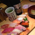 すし 台所家 - 三茶セット&ビール