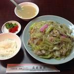 長崎飯店 - ランチセットB 皿うどん 軟麺